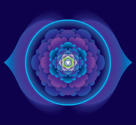 Mandala for meditation, a Ajna concept design,