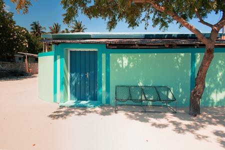 alternative living: Relaxing outdoor setting under a pergola