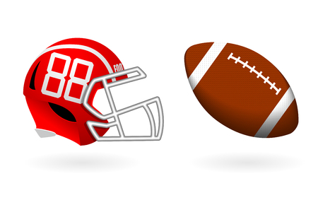 Football vector icons for web isolated on white background
