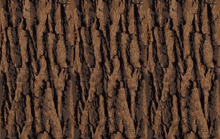 Nahtlose Baumrinde Textur. Endloser hölzerner Hintergrund für Webseitenfülle oder Grafikdesign. Eiche oder Ahorn Vektor-Muster Vektorgrafik