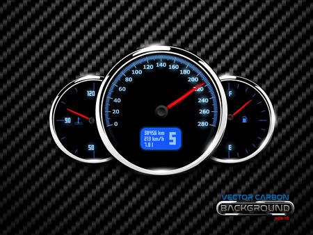 Gas and temperature auto panel. Speed poster design element