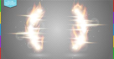 Effet lumineux d'étincelles sur fond transparent. Fiery quote border. Effet de flamme vectorielle. Supports lumineux cadre mobile. Espace lumineux pour message ou logo Banque d'images - 74115249