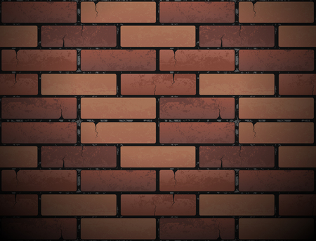 Red brick wall, urban backdrop. Иллюстрация