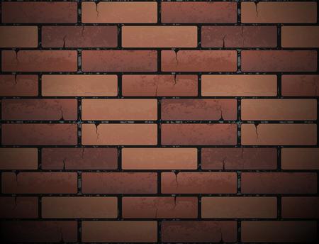 Rode bakstenen muur, stedelijke achtergrond.