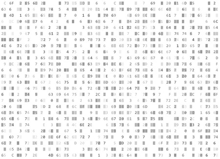 White hexadecimal code pattern.
