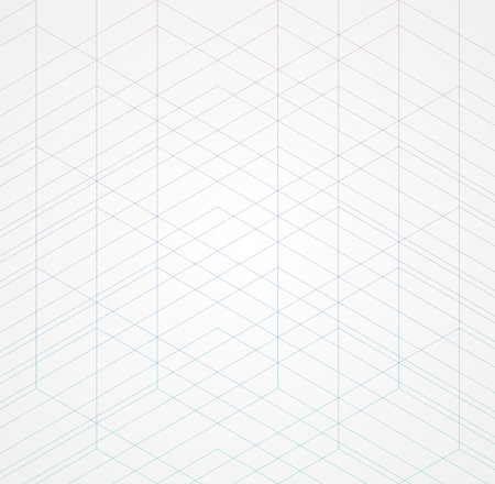 Geometric thin line white background. Simple graphic print. Vector modern minimalistic stylish trellis. Chaotic grid. Trendy hipster sacred geometry  イラスト・ベクター素材