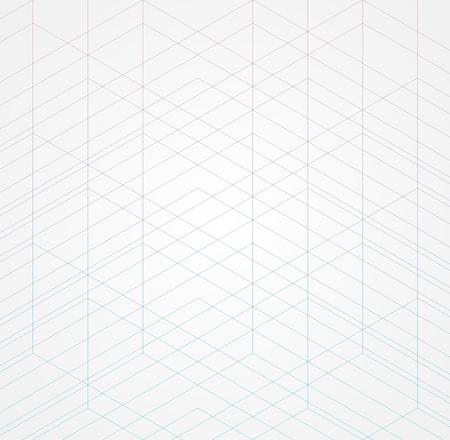 Geometric thin line white background. Simple graphic print. Vector modern minimalistic stylish trellis. Chaotic grid. Trendy hipster sacred geometry Ilustração