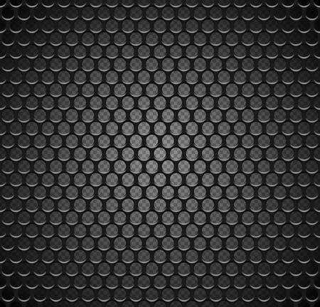 Modèle sans couture de grille métallique de vecteur sur fond transparent. Grille de haut-parleur en fer noir texture sans fin. remplissage de la page Web