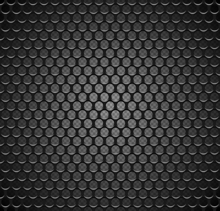 Vector metal grid seamless pattern on transparent background. Black iron speaker grill endless texture. Web page fill