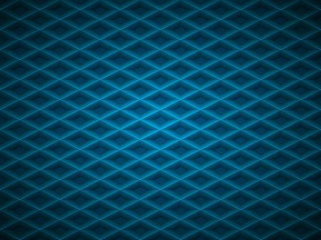 Vector blue embossed pattern plastic grid background. Technology diamond shape cell geometric pattern. Ilustrace