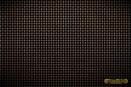 Vector pattern of metal grid techno background. Iron grill industrial texture. Web page fill pattern. Technology wallpaper