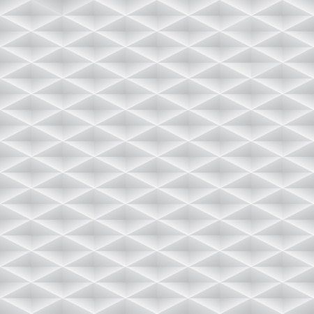 Vector white embossed pattern plastic grid seamless background. Diamond shape cell endless texture. Web page fill light geometric pattern