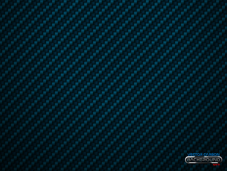 Vector blue carbon fiber volume background. Abstract decoration cloth material wallpaper with shadow for car tuning or service. Çizim