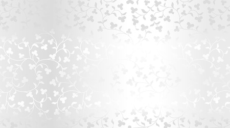 Seamless vector silver texture floral pattern. Luxury repeating damask platinum background. Premium wrapping paper or silk metallic cloth Çizim