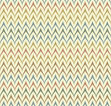 Seamless ethnic textile seamless vector pattern. Geometric thin zig zag native print. Folk mexican ornament. Ancient african style design. Simple line retro color background. Childrens chevron cloth Ilustração