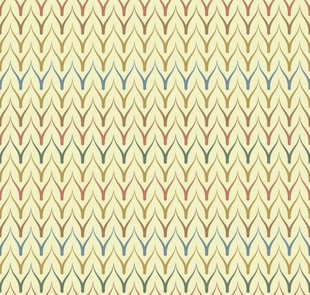 Seamless ethnic textile seamless vector pattern. Geometric thin zig zag native print. Folk mexican ornament. Ancient african style design. Simple line retro color background. Childrens chevron cloth Illusztráció