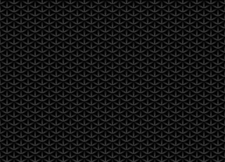Seamless volume black pattern. Flower of life design volume background. Floral repetitive dark geometric texture or web page fill. Looks like scales or chain armor. Illusztráció