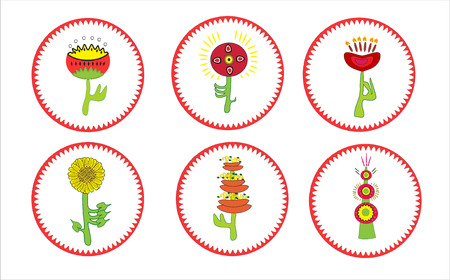 A collection of flowers. Vector illustration Stock Vector - 8454728