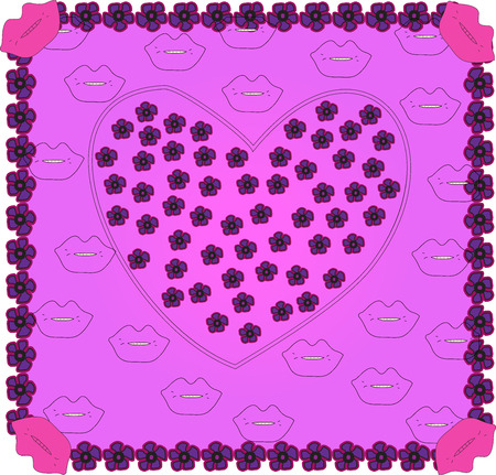 Valentine background.  Vector