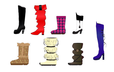 red boots: fashion shoes
