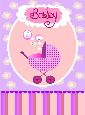 baby girl: card for baby girl