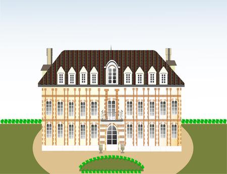 castle, vector illustration Vector