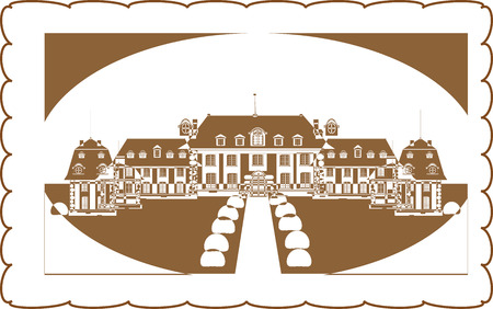 palace, castle, vector vintage Stock Vector - 8976482