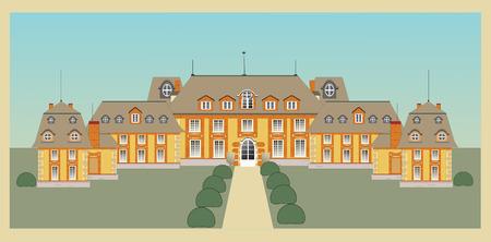 palace, castle, vector