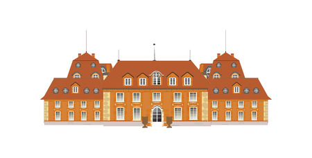 old building facade: palace, vector