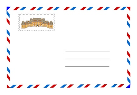 envelope and postage stamp Stock Photo - 9173751