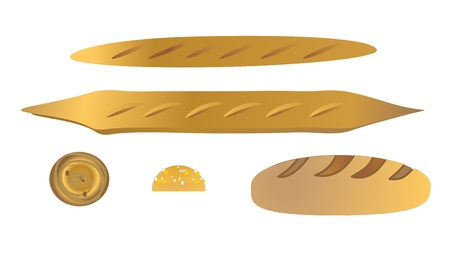 bread vector Stock Vector - 9266892