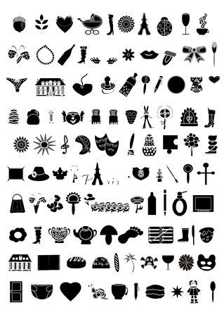 Collection of 100  elements vector Stock Vector - 9266899