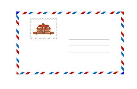 envelope and postage stamp vector illustration Vector