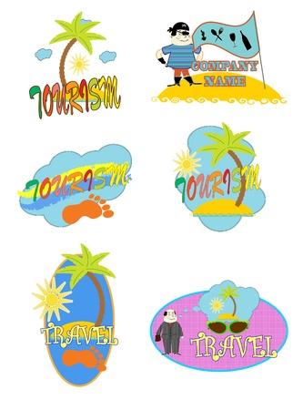 tourism logo: logo. tourism vector
