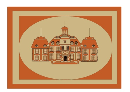 castle door: picture of the old castle. Vector Illustration