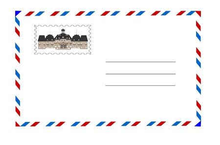 the old castle and the envelope Stock Photo - 9411551