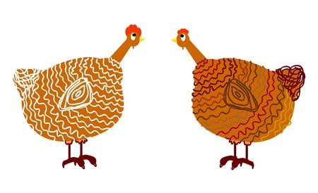 chicken, vector illustration Vector