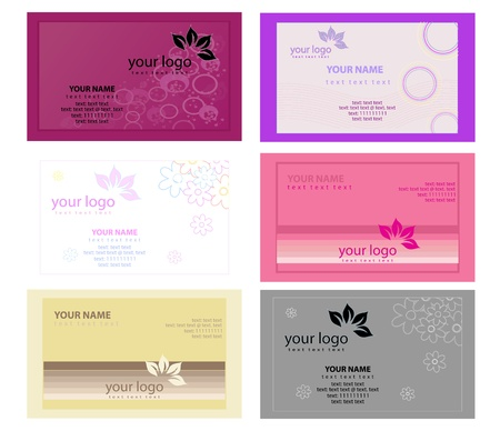 Color Business Cards vector Vector