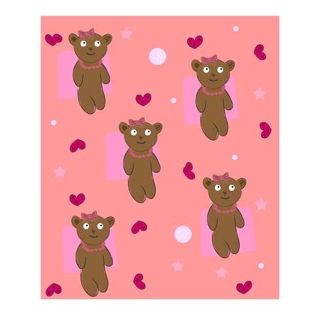 teddy bear background vector Stock Vector - 9595988