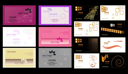 business card template: Color Business Cards vector illustration Illustration