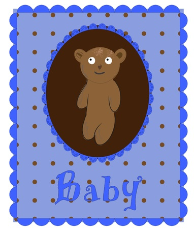 Greeting Card. blue Vector