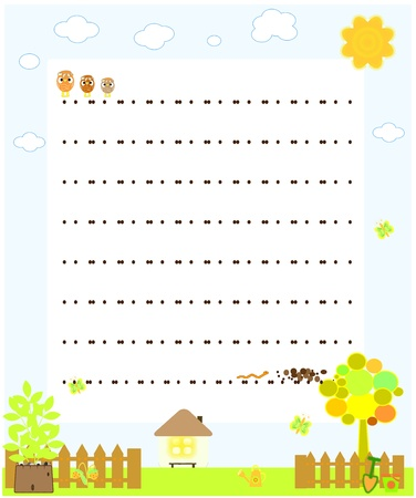 blank paper with chickens vector Stock Vector - 9945967