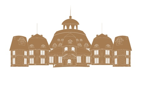 castle silhouette: castle silhouette vector Illustration