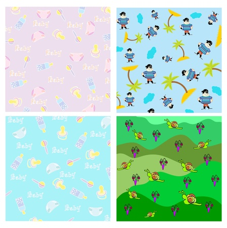 Cute kids cover template  pattern in vector  Vector