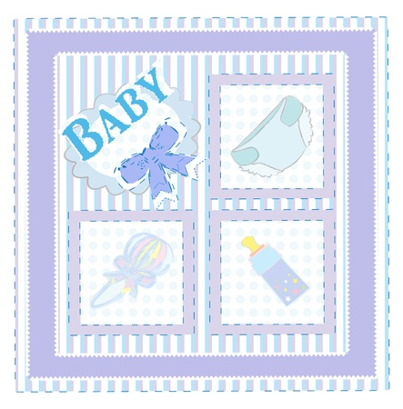Vector card for baby boy