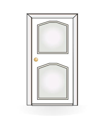 front house: door vector