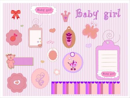 Scrapbook Girl Set Stock Photo - 10226254