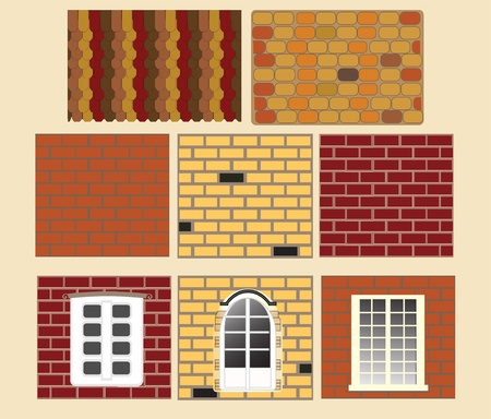 brick wall with window. Vector Stock Vector - 10366334