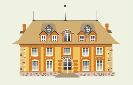 maison de maitre: maison de vecteurs Illustration