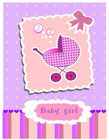 card for baby girl. Stock Vector - 10493901